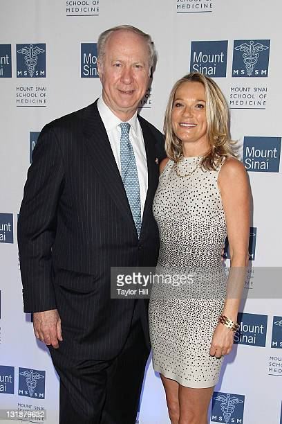 Pundit David Gergen and Dr Eva AnderssonDubin attend the opening of Dubin Breast Center at the Tisch Cancer Institute at Mount Sinai Hospital on...