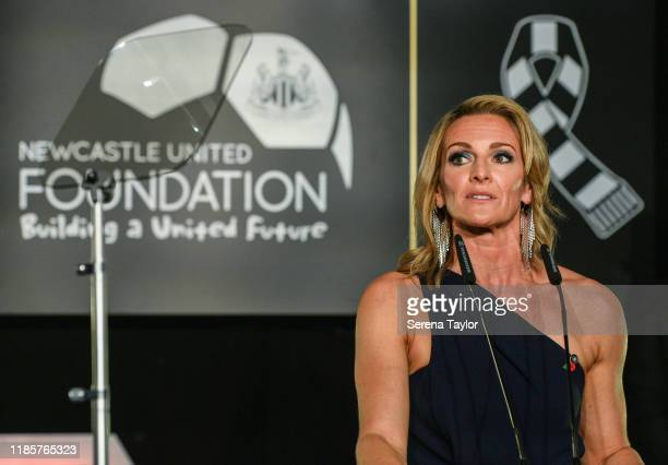 Pundit Gabby Logan hosts the Newcastle United Foundation's United as One annual dinner at St. James Park on November 05, 2019 in Newcastle upon Tyne,...