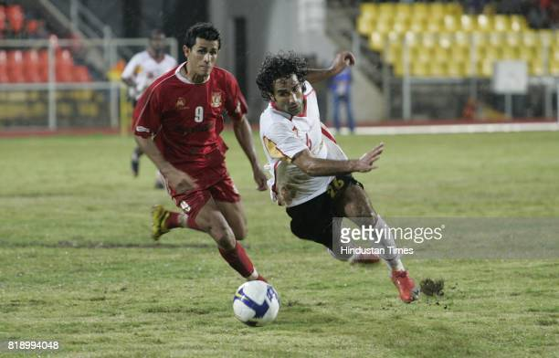 Pune FC V/s Kingfisher East Bengal a football match at Pune on Saturday