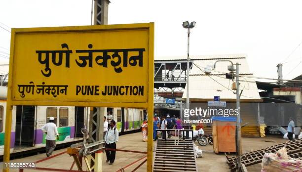 pune railway station, india - station stock pictures, royalty-free photos & images