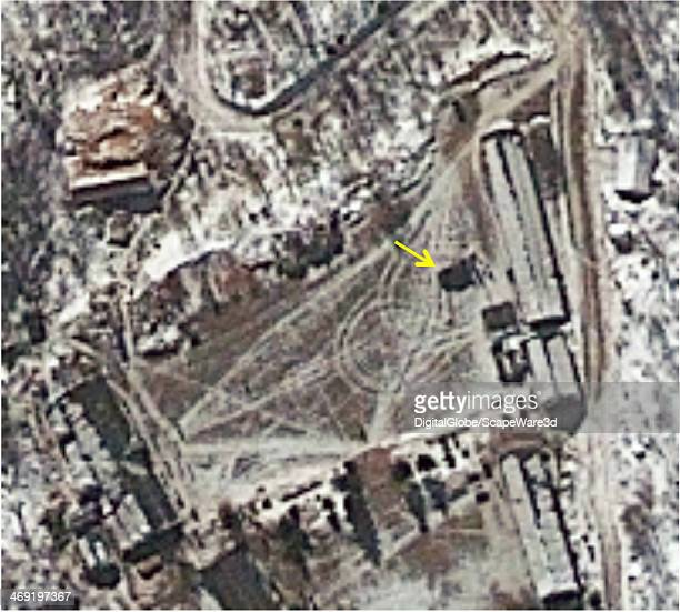 Punggyeri Nuclear Test Site North Korea Central Staging Area The DigitalGlobe image is showing a personnel vehicle with an awning seen in the central...