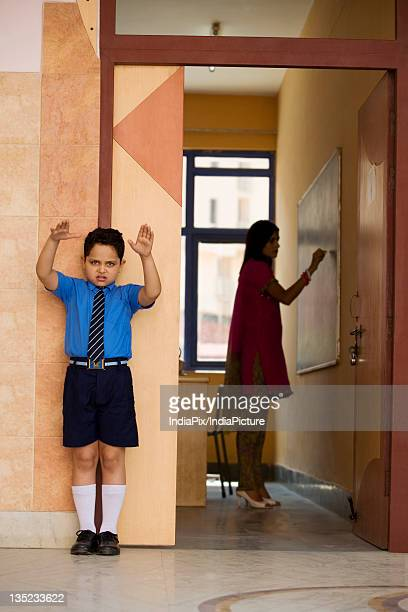 Punished school boy