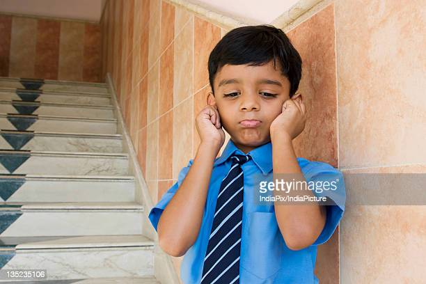 punished school boy - penalty stock pictures, royalty-free photos & images