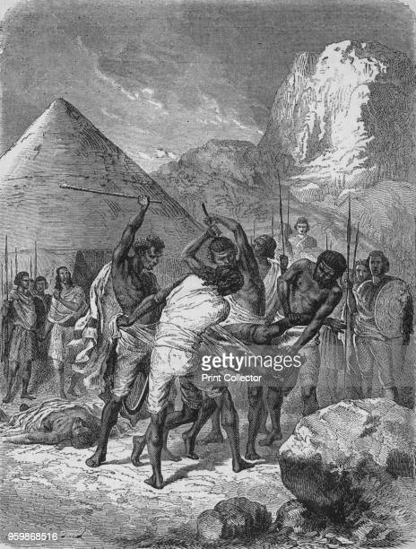 Punishment of Abyssinian Captives' circa 1880 Episode of the British Expedition to Abyssinia From British Battles on Land and Sea Vol III by James...