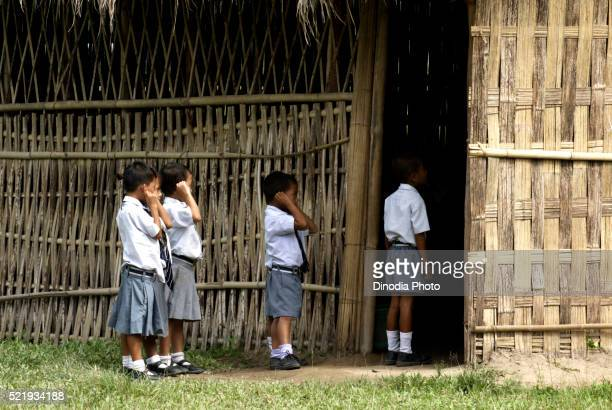 Punishments for Students in School Chakma Tribal Arunachal Pradesh India