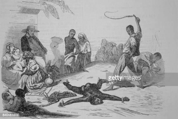 Punition d'un esclave dans les Antilles en 1843