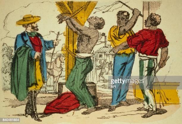 Punition d'un esclave dans une plantation au XIXè siècle