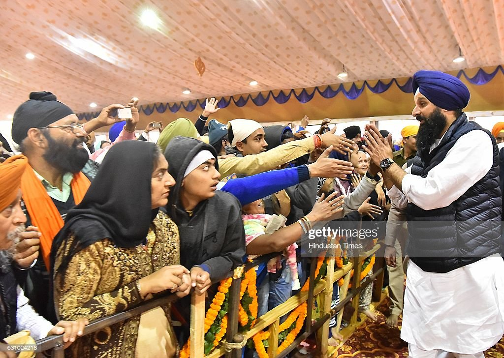 Punjab Cabinet Minister Bikram Singh Majithia during the 350th Parkash Utsav of Sri Guru Gobind Singh ji on January 5 2017 in Patna India Guru Gobind.