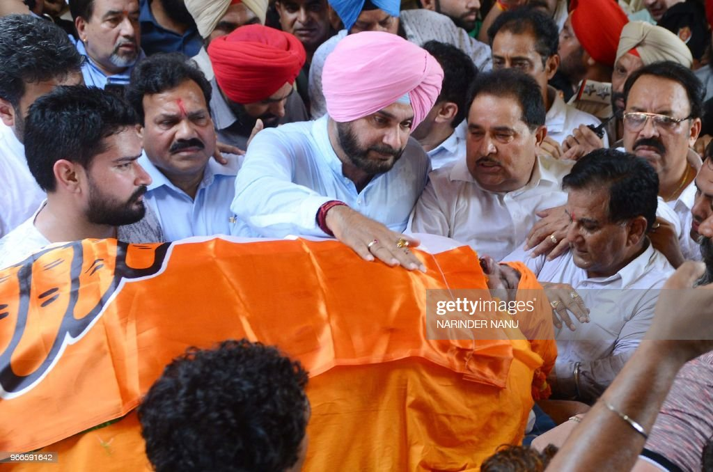 Punjab Cabinet Minister Navjot Singh Sidhu Punjab Education Minister Om Parkash Soni Member of Punjab Legislative Assembly Raj Kumar Rajya Sabha MP...