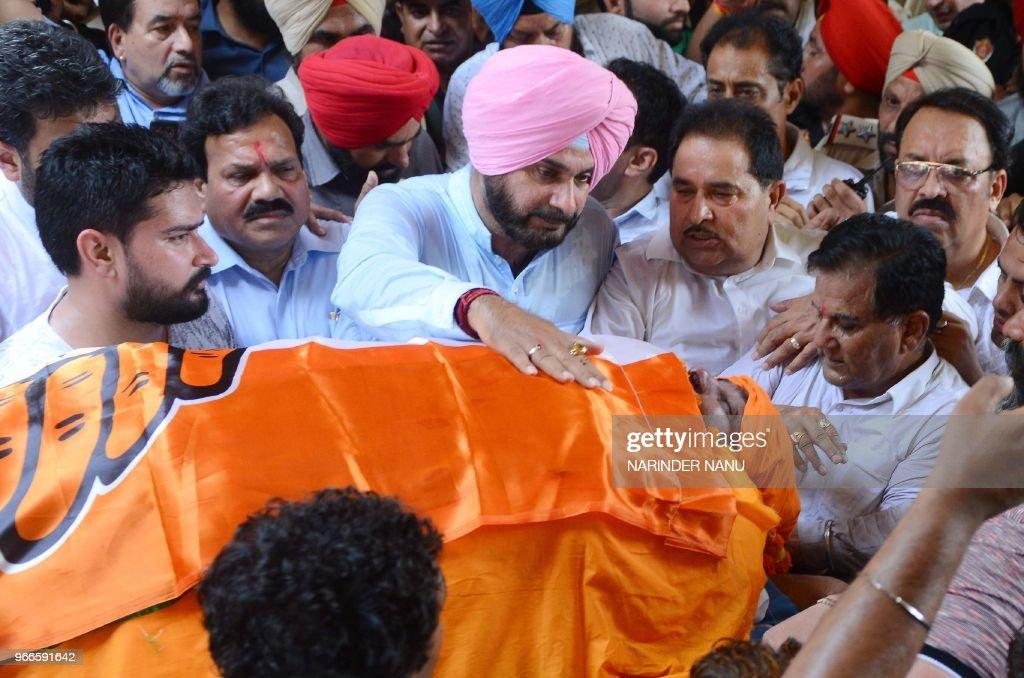 Punjab Cabinet Minister Navjot Singh Sidhu Punjab Education Minister Om Parkash Soni Member of Punjab Legislative Assembly Raj Kumar Rajya Sabha MP...