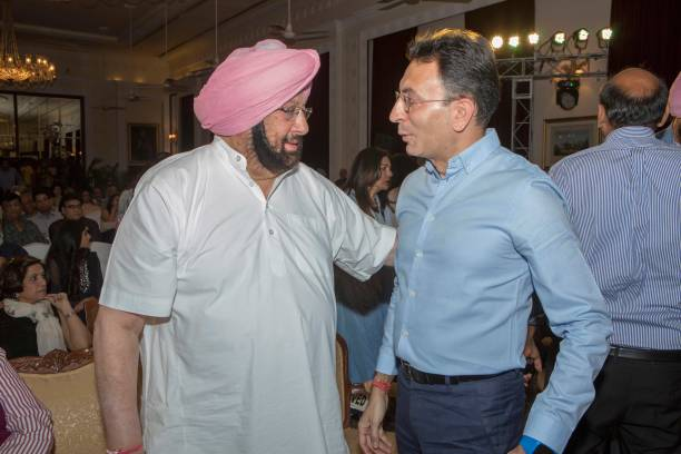 Punjab Chief Minister Captain Amarinder Singh during the launch of a book titled 'Captain Amarinder Singh The People's Maharaja An Authorized.
