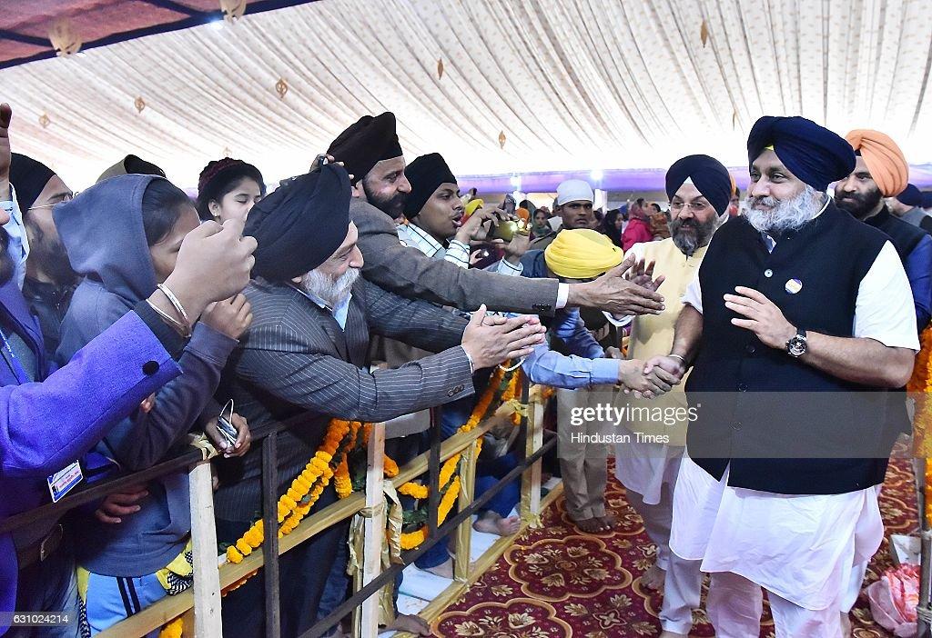 Punjab Chief Minister Parkash Singh Badal Deputy Chief Minister Sukhbir Singh Badal Union Food Processing Minister Mrs Harsimrat Kaur Badal and...
