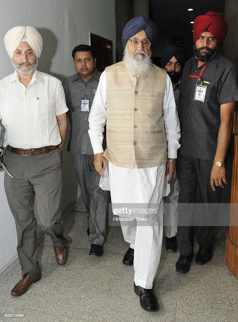 Punjab CM Parkash Singh Badal at Monsoon Session of Punjab Assembly on September 12 2016 in Chandigarh India