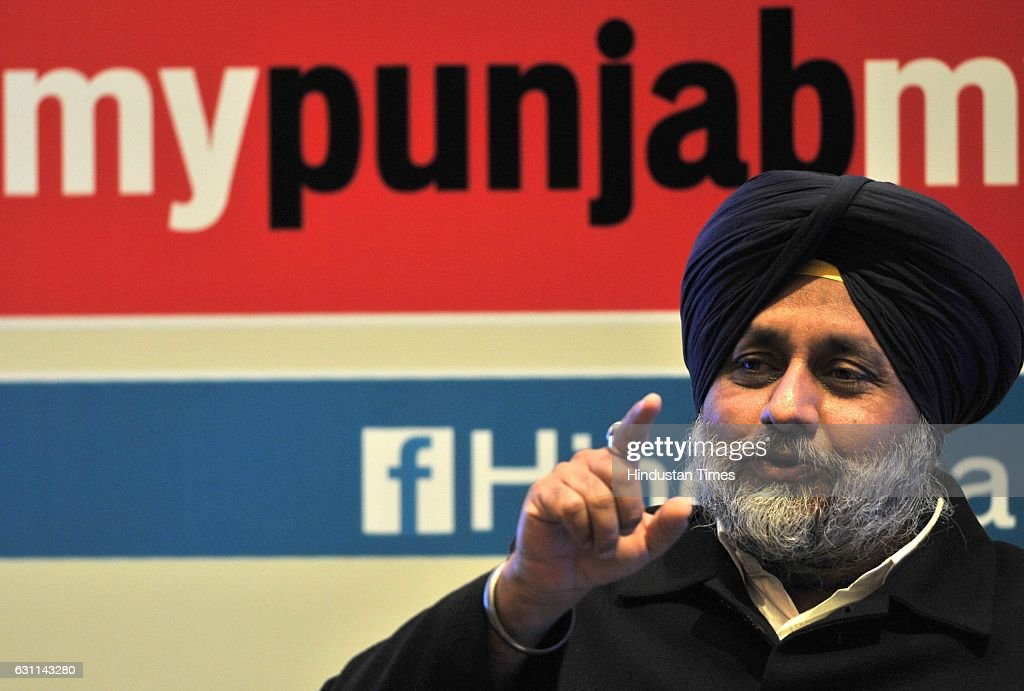 Punjab Deputy Chief Minister Sukhbir Singh Badal speaks during the Power Couple @HT organised by Hindustan Times in Hotel Hyatt Regency on January 7..