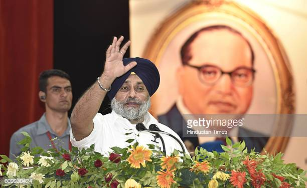 Punjab Deputy CM Sukhbir Singh Badal addresses during the 4th National Seminar on commemorating the life vision and ideology of the visionary leader...