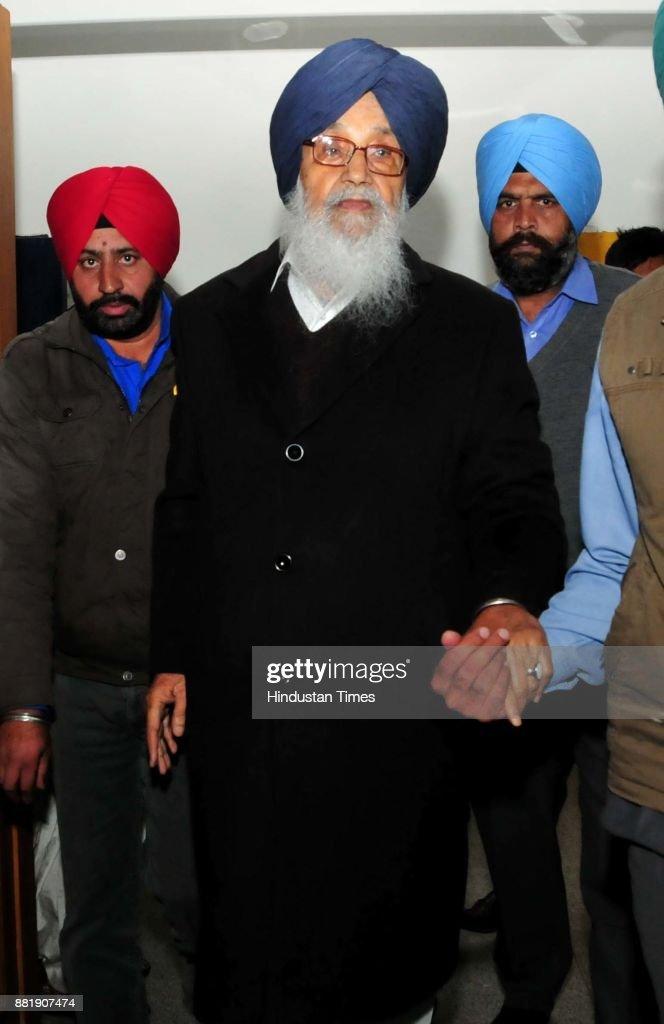Punjab former CM Parkash Singh Badal at Punjab Vidhan Sabha session on November 29 2017 in Chandigarh India