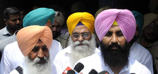 Punjab Lok Insaf Party leader Bains brothers during the presidential election at Punjab Vidhan Sabha on July 17 2017 in Chandigarh India Approx 99%...