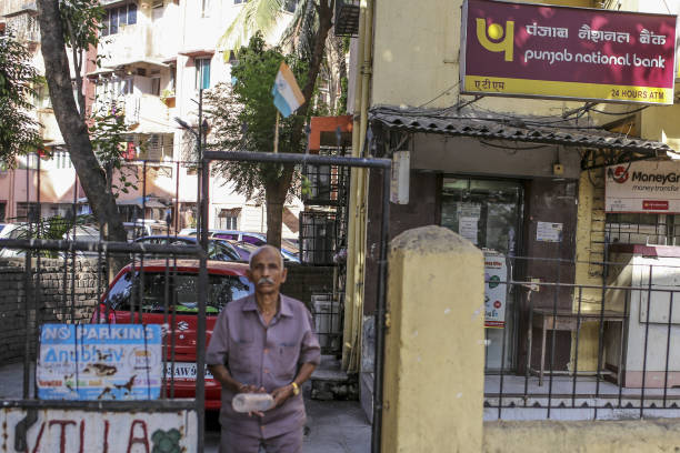 A Punjab National Bank branch stands in Mumbai India on Sunday April 22 2018 PNB is scheduled to announce full year earnings on May 16 Photographer...