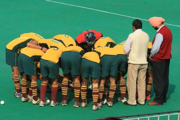Punjab National Bank during 4th Oriental Bank Maharaja Ranjit Singh Hockey Tournament at Shivaji Stadium in New Delhi