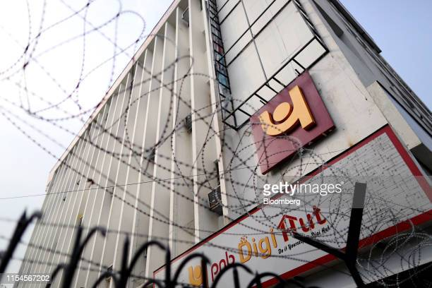 A Punjab National Bank office building stands in New Delhi India on Monday July 8 2019 India's beleaguered staterun lenderPNB disclosed another...