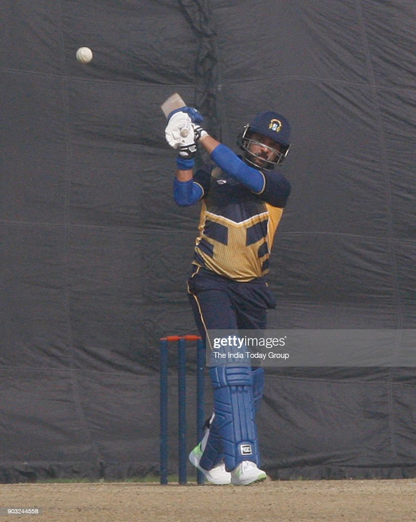 Punjab player Yuvraj Singh playing shot against Delhi vs Punjab T20 match at Feroz Shah Kotla ground in New Delhi