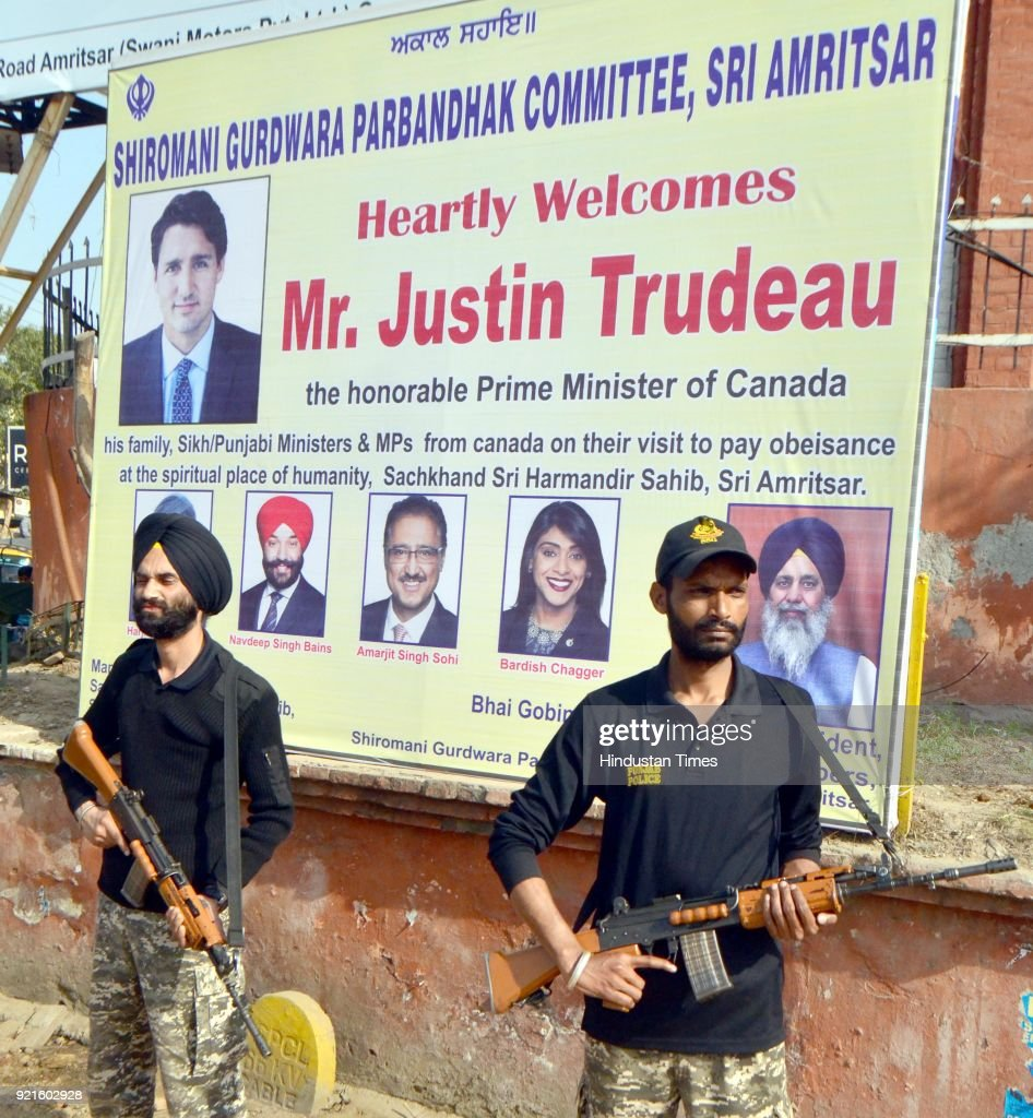 Preparations At Golden Temple For The Visit Of Canadian Prime Minister Justin Trudeau