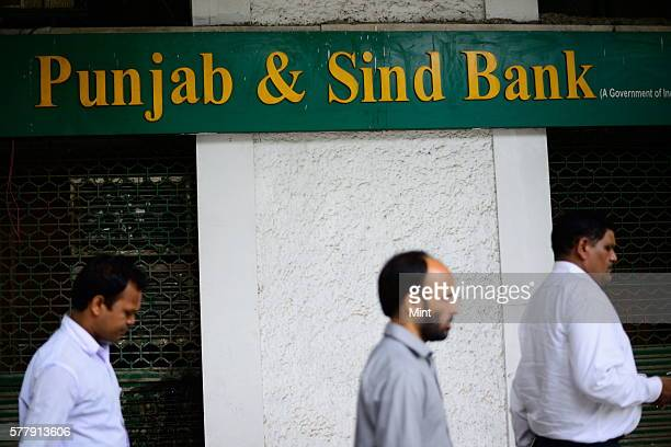 Punjab Sind Bank photographed regarding bank for stock on August 8 2014 in New Delhi India
