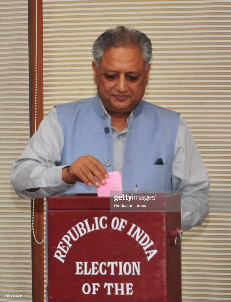 Punjab Speaker Rana KP Singh during the presidential election at Punjab Vidhan Sabha on July 17 2017 in Chandigarh India Approx 99% voting was...