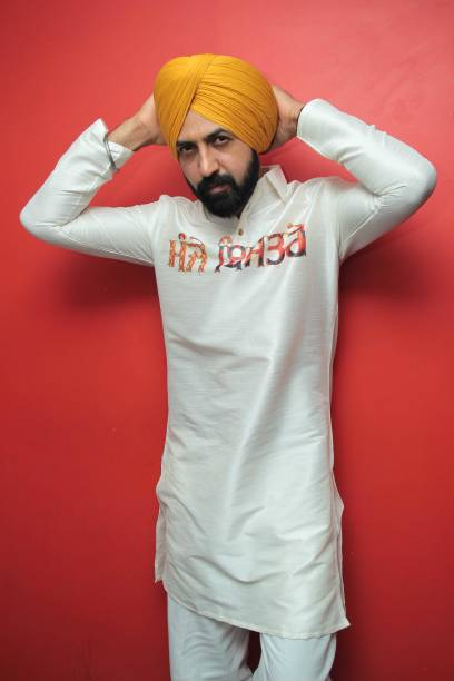 Punjabi actor and singersongwriter Gippy Grewal poses during an exclusive interview with HT CityHindustan Times for the promotion of his upcoming...