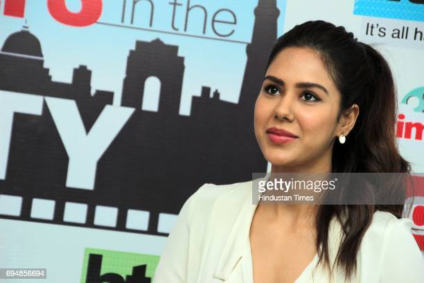 Punjabi actor Sonam Bajwa during an exclusive interview with HT CityHindustan Times for the promotion of upcoming movie 'Super Singh' as part of...