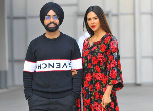 IND: Profile Shoot Of Punjabi Actors Ammy Virk And Sonam Bajwa