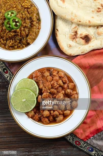 Punjabi Chole and Baingan Bharta
