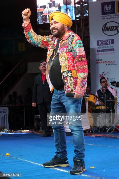 Punjabi Pop Singer Daler Mehandi performs during Gata Rahe Mera Dil 2018 an annual cultural cum awards event at Talkatora Stadium on August 24 2018...