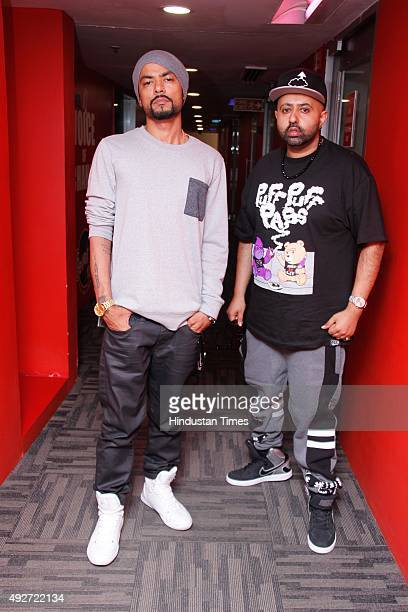 Punjabi Rapper Bohemia and Rapper Haji Springer during an exclusive interview with HT CityHindustan Times at HT Media Office on September 15 2015 in...