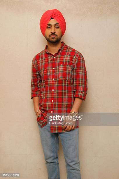 Punjabi singer and actor Diljit Singh Dosanjh during an exclusive interview with HT CityHindustan Times for upcoming Punjabi movie Sardaar Ji at HT...
