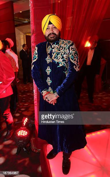 Punjabi singer Daler Mehndi during prewedding party of his daughter Ajit Kaur with Navraj Singh son of singer Hans Raj Hans on November 6 2013 in New...