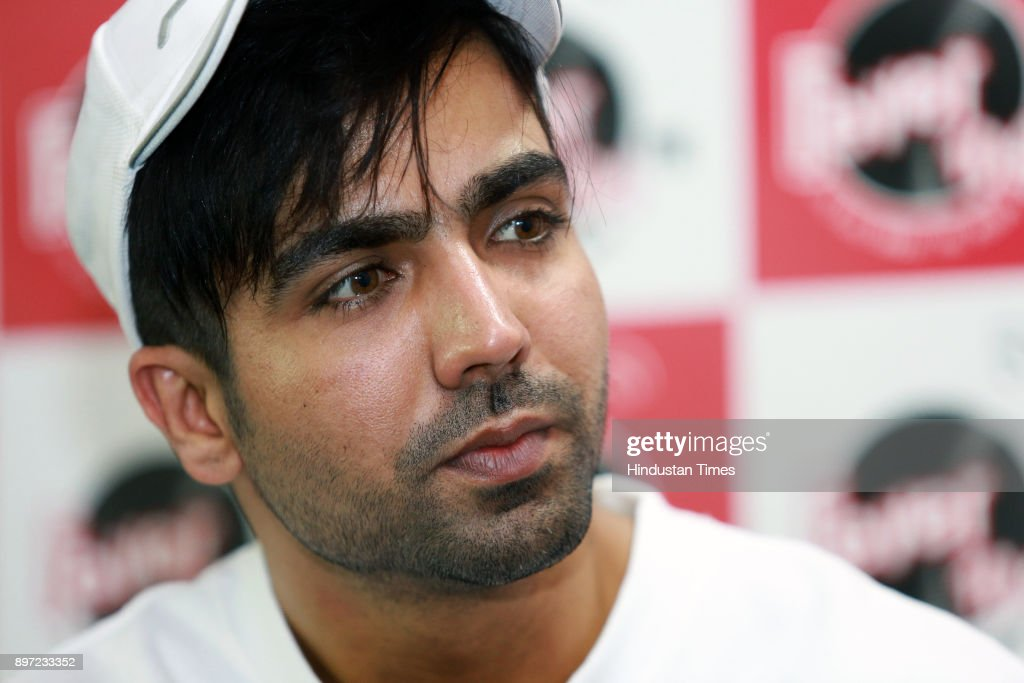 Punjabi singer Hardy Sandhu poses for a profile shoot during an interview at HT Media Office on November 29 2017 in New Delhi India