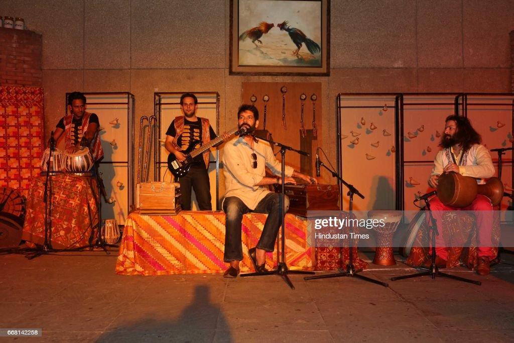 Punjabi singer Jasbir Jassi during the Mela Phulkari at India Habitat Centre on April 9 2017 in New Delhi India Mela Phulkari saw attendees groove to.