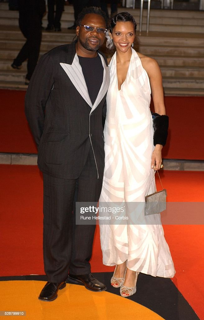 Punjabi singer Jazzy B and his wife attend the Brit Awards 2005 held