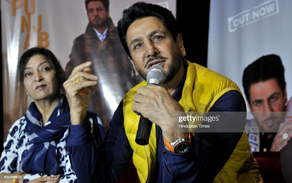 Punjabi singeractor Gurdas Maan during the launch of new Punjabi album at North Country Mall Mohali on February 9 2017 in Chandigarh India
