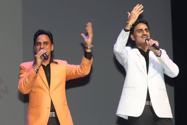Punjabi singers the `Munde Brothers` perform in Mississauga Ontario Canada on 11 November 2017