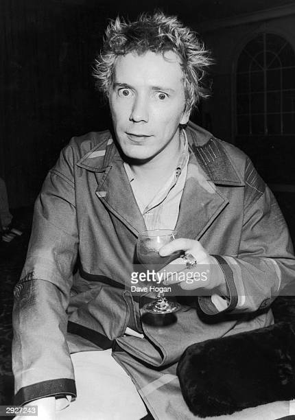 Punk and new wave singer, John Lydon, aka Johnny Rotten, at the Lancaster Gate Hotel, London for a press conference for the film 'Order of Death' in...