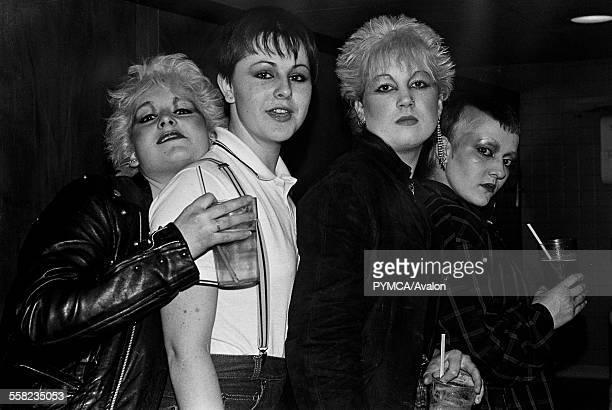 Punk and Skinhead girls at a gig Hastings 1981