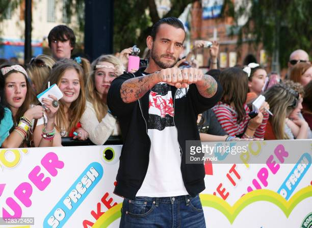 Punk arrives at the 2011 Nickelodeon Kid's Choice Awards at the Sydney Entertainment Centre on October 7, 2011 in Sydney, Australia.