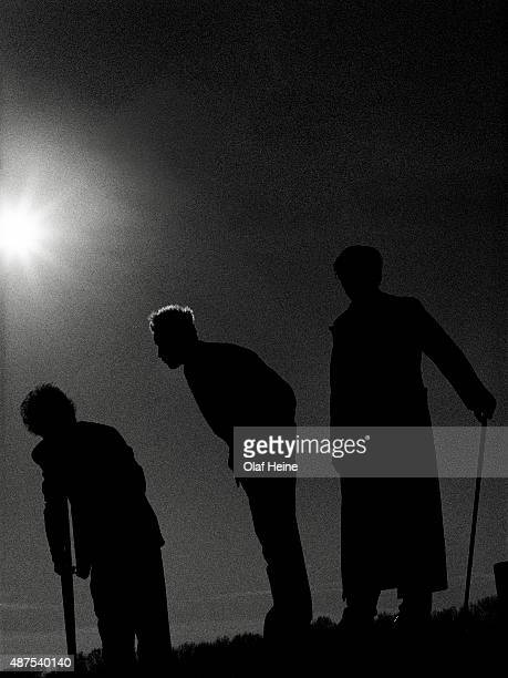 Punk band Die Aerzte is photographed on April 18 1998 in Nuremberg Germany