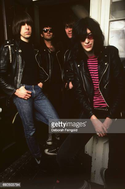 Punk band The Ramones pose for a portrait in 1983 in New York City New York