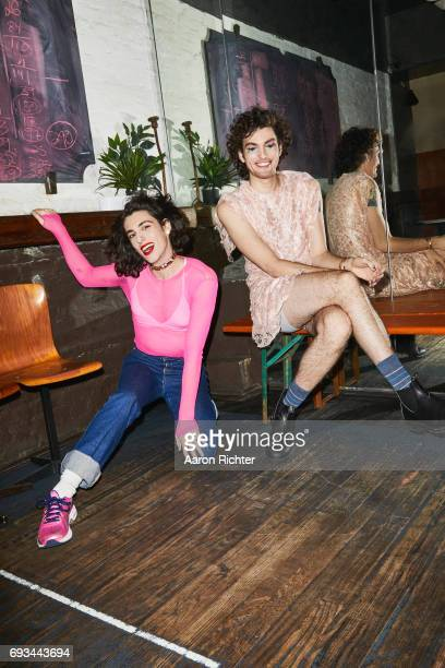 Punk duo PWR BTTM are photographed for Billboard Magazine on March 1, 2017 at Robert Bar in Brooklyn, New York. PUBLISHED IMAGE.