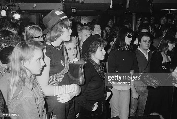 Punk fans including Marco Pirroni later of Adam The Ants in the auudience at The Hope and Anchor IslingtonLondon November 1976
