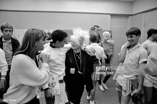 Punk hair in high school Somerville Massachusetts 1980