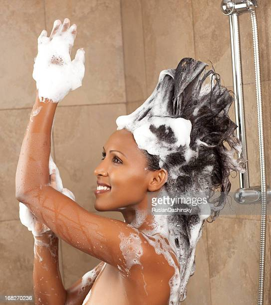 Punk hair shower.